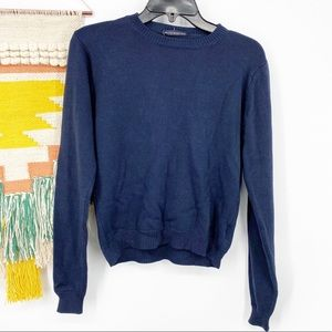Brandy Melville Navy Crop Sweater One Size NWT